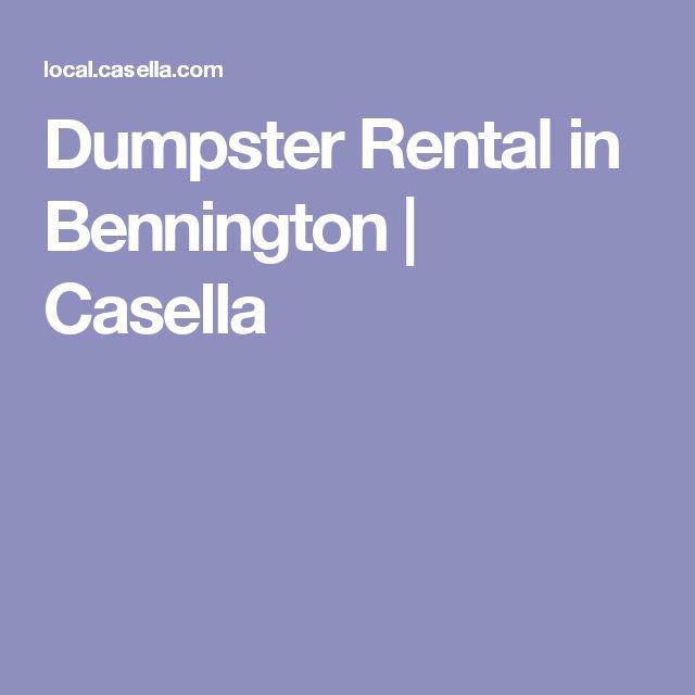 Dumpster Rental in Bennington | Casella