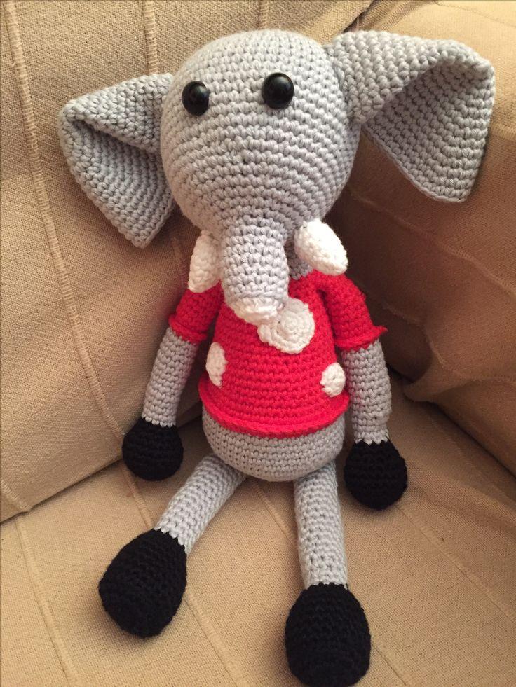 Elefant Titus. Patrón: www.artedei.com