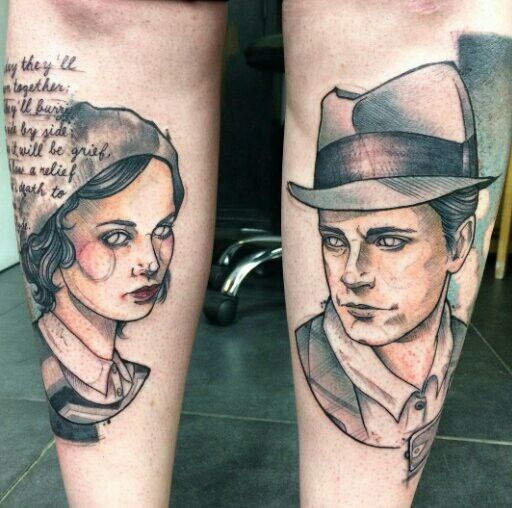 Bonnie and Clyde Tattoo by Anki Michler