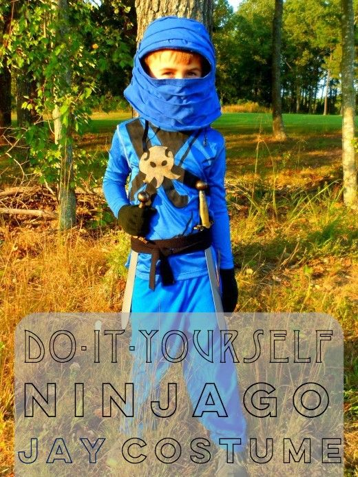 Learn how to make a homemade Ninjago Jay costume with these step-by-step instructions.