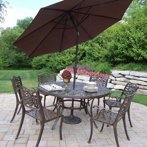 Oakland Living Mississippi Cast Aluminum 60 in  Patio Dining Set with  Tilting Umbrella and Stand11 best Patio Furniture images on Pinterest   Modern patio  Patio  . Oakland Living Mississippi Patio Rocking Chair. Home Design Ideas