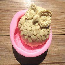 С милой совой гибкая силиконовая форма ручной работы мыло пресс-формы торт помадка для кондитерского плесень