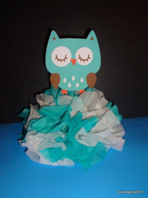 Woodland Animal Owl  Centerpiece Decoration KIT by blueskygirls, $7.00