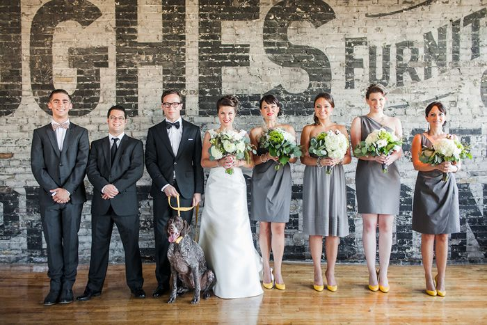 What a stylish bridal party! A Brit & A Blonde
