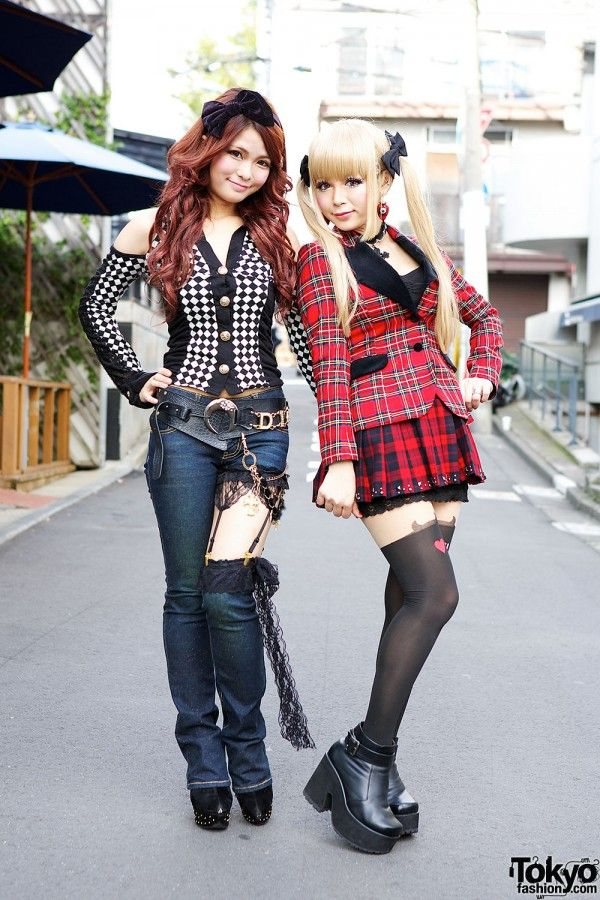Harajuku Models in Plaid & Denim