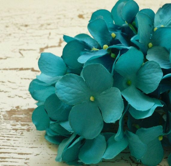 39 best fabulous silk flowers images on pinterest floral crowns turquoise artificial hydrangea head artificial flowers silk flowers flower crown hair accessory wedding flowers millinery scrapbook mightylinksfo
