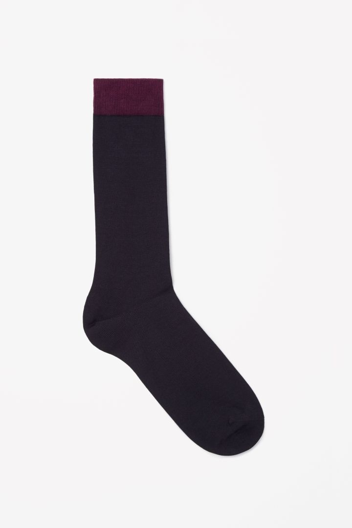 COS | Contrast cuff socks