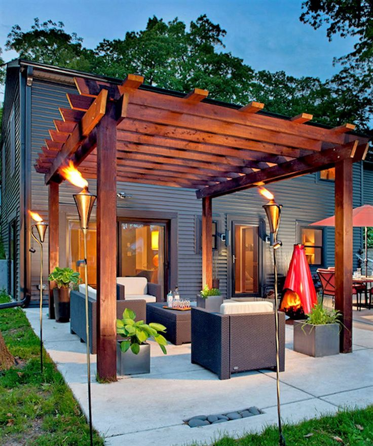 Pergola Off Of An Existing Covered Porch: 25+ Best Ideas About Covered Pergola Patio On Pinterest