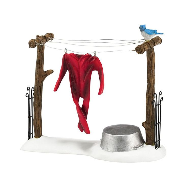 Department 56 Authentic Village Accessories Woodland Clothesline Figurine #Department56