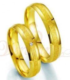 Βέρες γάμου χρυσές με διαμάντι breuning 7013-7014