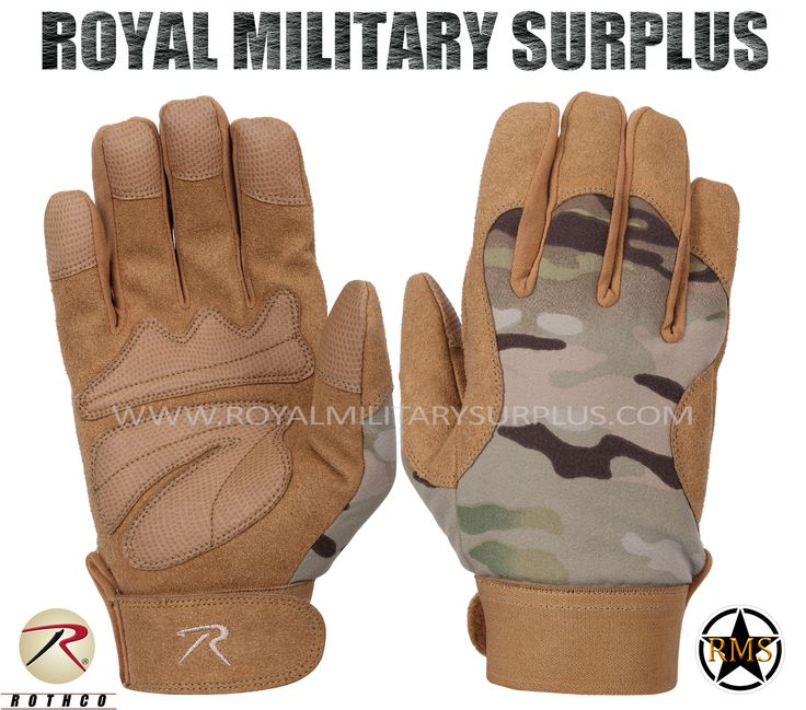 Tactical Gloves - Mechanics - MULTICAM (Multi-Environment) - 54,95$ (CAD) | MULTICAM (Multi-Environment Camouflage Pattern) USA/NATO Armed Forces Camouflage – 7 Colors Military Mechanics Design Made following Military Specifications Polyester & Leather Construction Synthetic Leather Padded Palms Reinforced Fingers & Palm Moisture Wicking Technology Adjustable Wrist (Hook & Loop) BRAND NEW Available Sizes : S - M - L - XL http://www.royalmilitarysurplus.com/Gloves_c23.htm