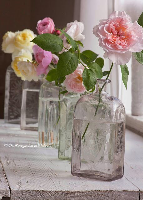 S i m p l y ♥ L o v e l y. Roses. In de vensterbank.