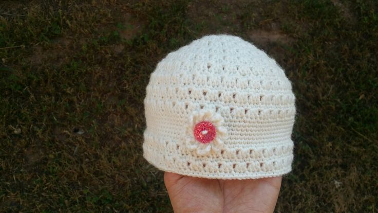 Baby crochet hat for girl😆