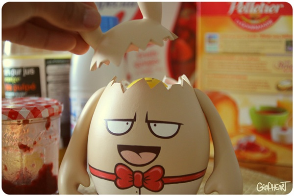 Dudegg by Grapheart | News | Dudebox: Custom Toys, Eggs, Art Toys, Designer Toys, Vinyl Toys, Egg Character