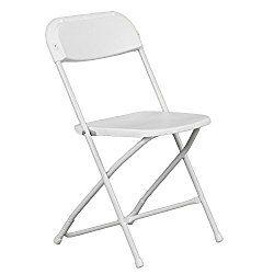 Hercules Premium Folding Chair, White – 20 Pack