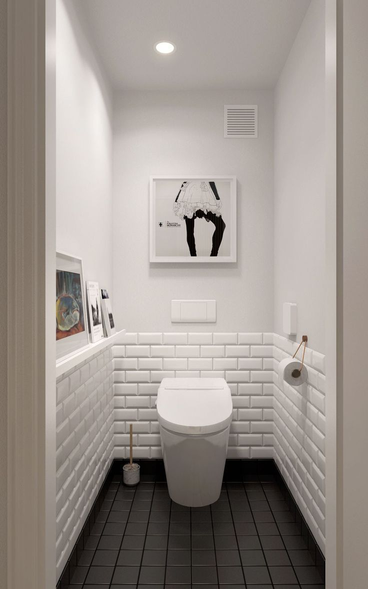 Skandinavische Designideen für Badezimmer mit weißen Farbschatten, die Sie