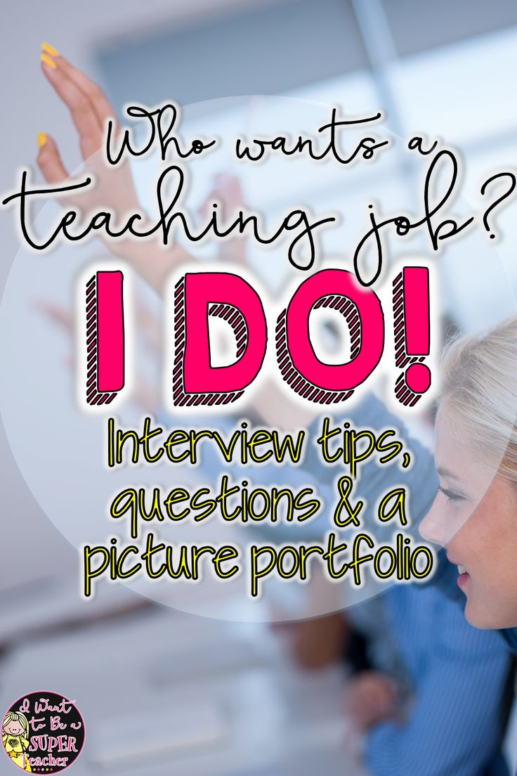 Great for teachers looking for a job