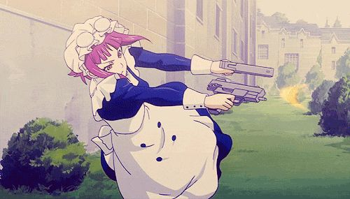 When Mey-Rin went badass!! Everyone new to get the fuck out of the way! (Sorry for the language I'm not in the best of moods so everyone is either a asshole or a dipshit today there is no in between for me today)