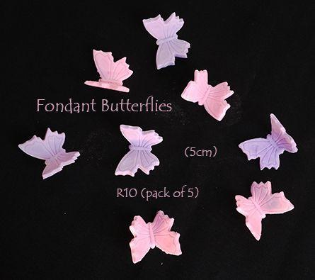 Fondant Butterflies (Glittered wings)