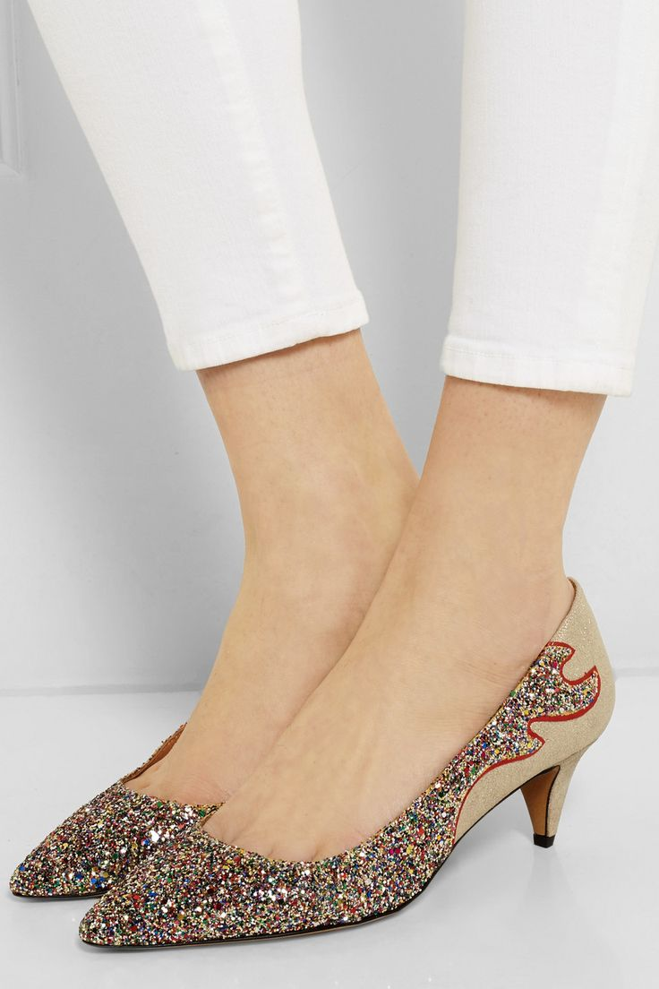 #IsableMarant Étoile Gumy glitter-finished leather pumps | FR | #THEOUTNET