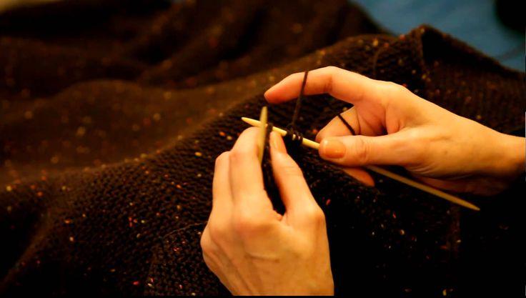 Comment tricoter une bordure en i-cord sur une lisière de point mousse sans relever toutes les mailles au préalable.