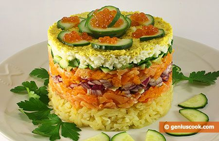 How to Make a Salad with Smoked Salmon and Red Caviar | Romantic Dinner Recipes | Genius cook - Healthy Nutrition, Tasty Food, Simple Recipes