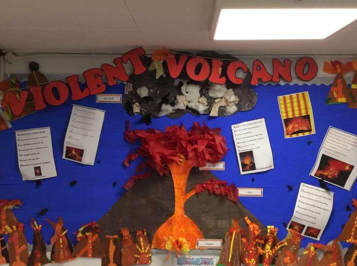 Year 3 volcanoes classroom display geography mar 16 for Soil facts ks2