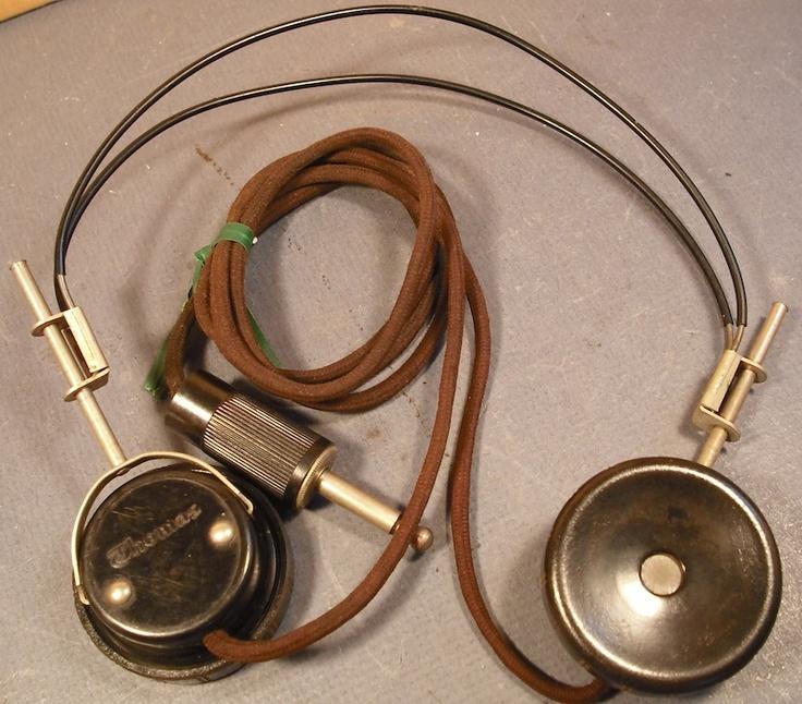 1950's Antique Vintage Headphones For Sale