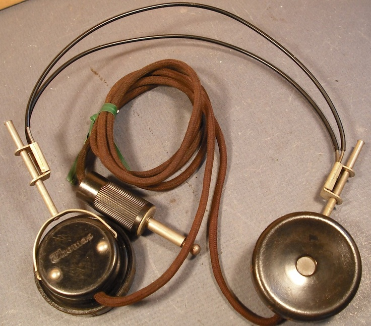 1950's Antique Vintage Headphones For Sale