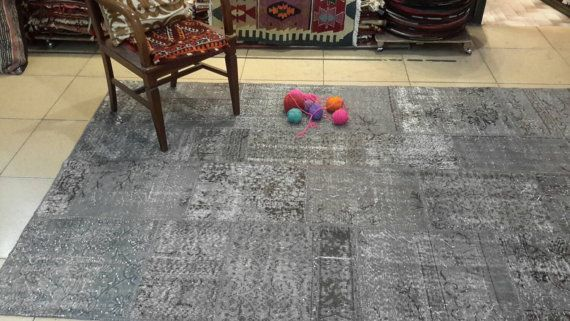 Free shipping. 8.7 by 5.6 feet. Gray overdyed by turkishrugman