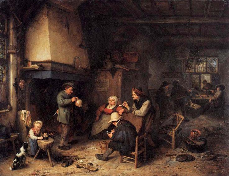 Peasants in an interior 1661 adriaen van ostade dutch for Classic house genre