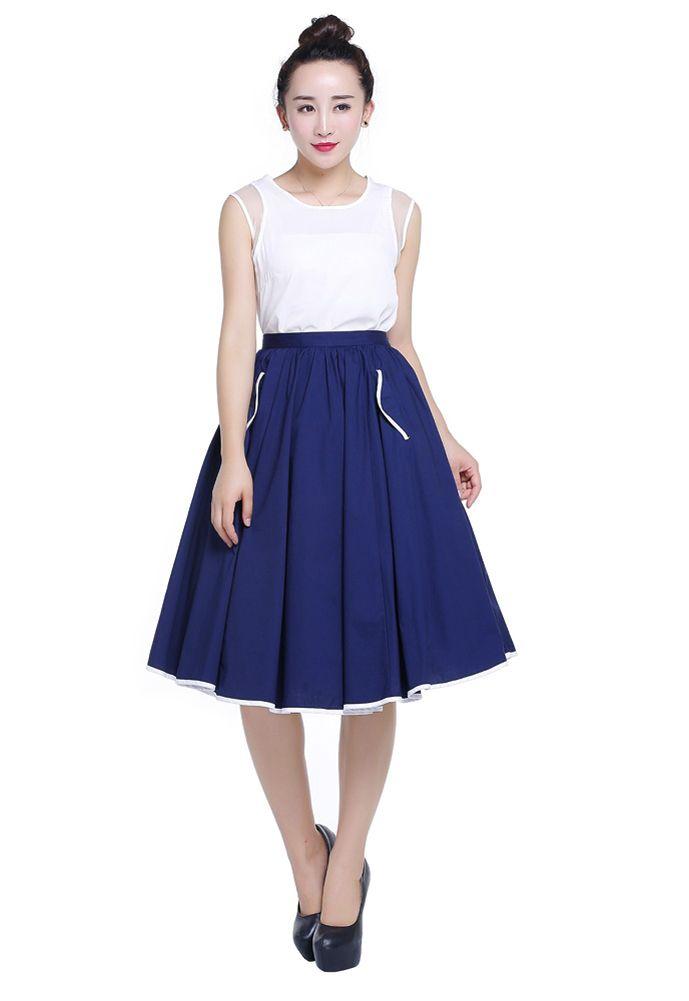 Full White Skirt - Dress Ala