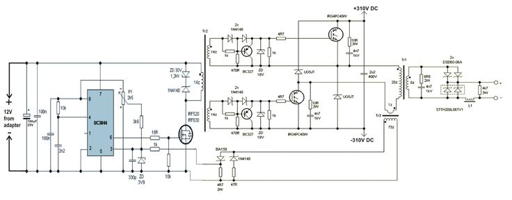 Hobby Electronics Circuits: SMPS Welding Inverter Circuit