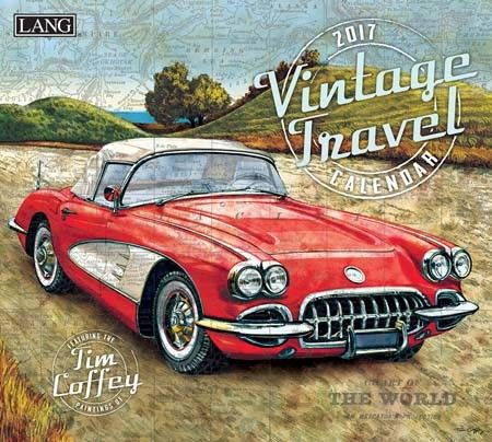 Vintage Travel 2017 Wall Calendar , 17991001988 | Lang