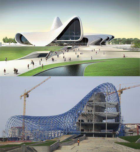 Azerbaijan Cultural Center in Baku by Zaha Hadid Architects