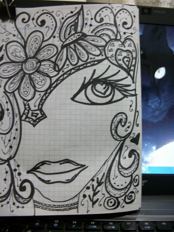 99 best faces images on pinterest zentangle faces and for Doodle art faces