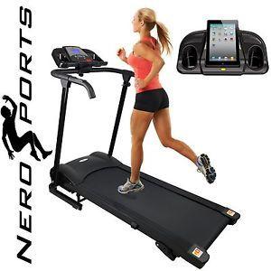 Nero Sport Manual Incline Folding Running Machine Motorised Treadmill New