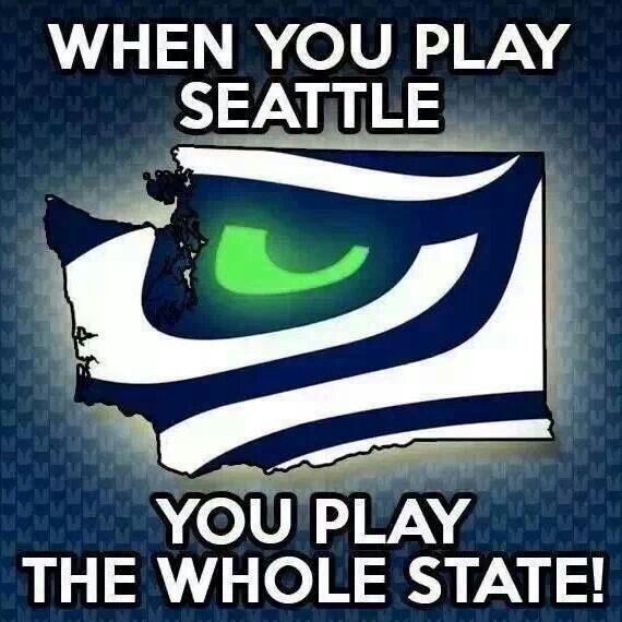 Even those that grew up in Washigton, but livd elsewhere now! Seattle Seahawks
