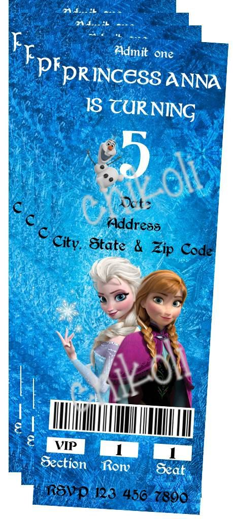 Disney Frozen Birthday Party Invitation by Chikoli on Etsy, $9.99