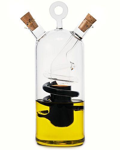Cruet Modena: Oil & Vinegar, separate but together. Handmade in Hungary, with non dripping spouts. $56 #Cruet