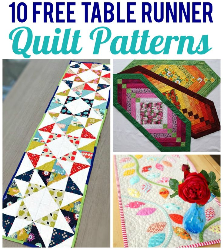 10 Free Table Runner Quilt Patterns                                                                                                                                                                                 More