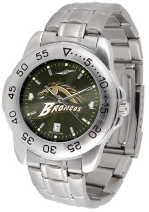 Western Michigan Broncos Sport Steel Band Ano-Chrome Men's Watch