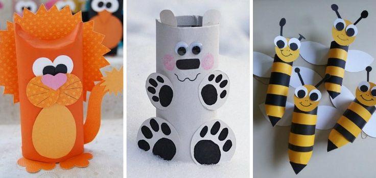19 Ideas de Animales con Rollos de Papel Higiénico - http://blogmujer.org/19-ideas-de-animales-con-rollos-de-papel-higienico/