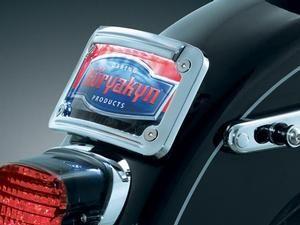 Biker's Choice Chrome, 2-Piece Curved License Plate Frame- Harley Davidson Models