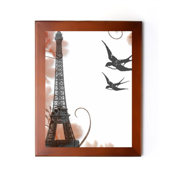 "Eiffel Towel 7.25"" x 9.25"" Photo Frame (0.7"" wide) Brown 7.25"" x 9.25""... ($19) ❤ liked on Polyvore featuring home, home decor, frames, personalized frames, personalized home decor, personalized picture frames, brown picture frames and brown frames"