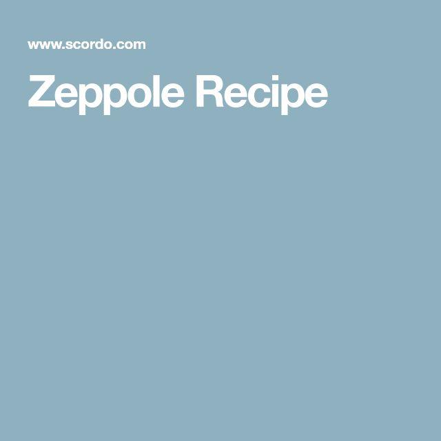 Zeppole Recipe