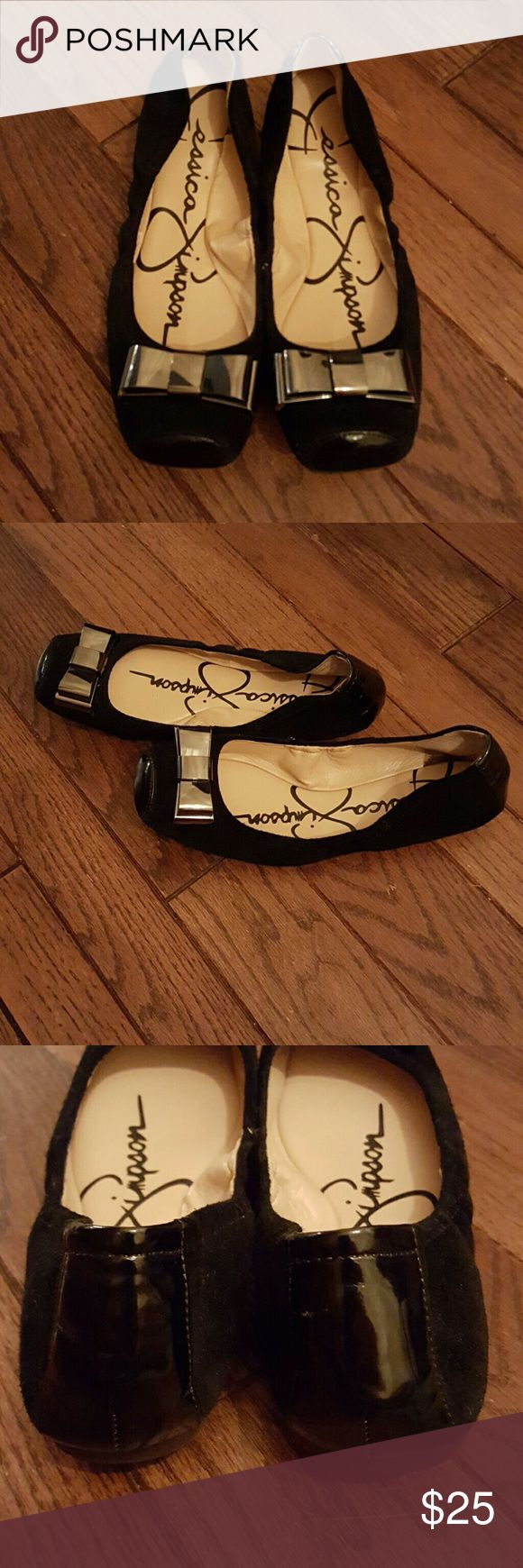 Jessica Simpson Flats EUC ?The Jessica Simpson Monetah Black Oiled Suede Women Shoes featuring suede upper. These stunning shoes are chic and sophisticated, the perfect elegant choice for your next special occasion. Make your most polished moments matter with the Jessica Simpson shoes. Super comfy. Fit true to size. Jessica Simpson Shoes Flats & Loafers