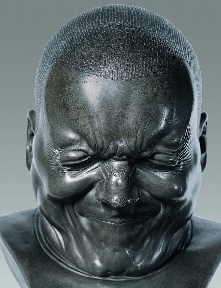 This is by Franz Xaver Messerschmidt (February 6, 1736 – August 19, 1783) a crazy genius!