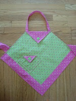 Tutorial for four corners apron! Sized for kids... easy to resize!