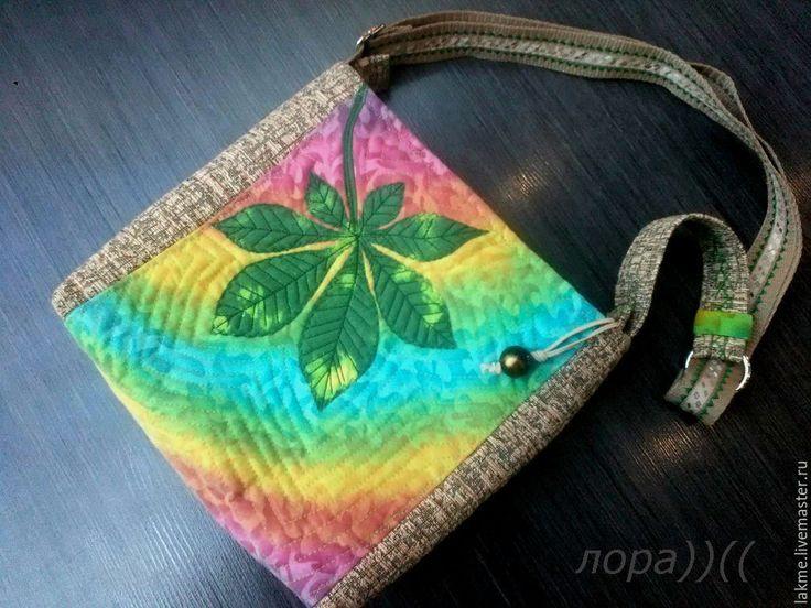 """Купить Сумка женская """"Каштаны"""" из ткани. - комбинированный, рисунок, сумка ручной работы, сумка женская"""